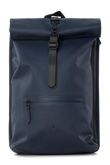 Rains Original Roll Top Backpack Blue 3