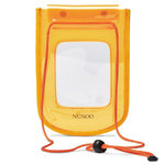 Núnoo Beach Wallet Transparent orange voorkant