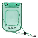 Núnoo Beach Wallet Transparent mint voorkant