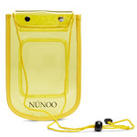 Núnoo Beach Wallet Transparent yellow voorkant