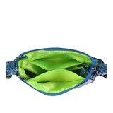 Daniel Silfen Handbag Ulla electric blue binnenkant