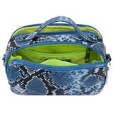 Daniel Silfen Handbag Katy electric blue binnenkant
