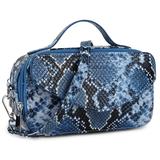 Daniel Silfen Handbag Katy electric blue zijkant