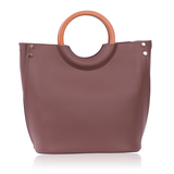 INYATI Viviana Top Handle Bag Chocolate achterkant