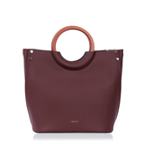 INYATI Viviana Top Handle Bag Chocolate voorkant