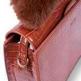 INYATI Olivia Croco Top Handle Bag Brandy Brown details
