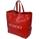 Nunoo Big ToteVeggie Red zijkant