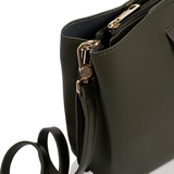 Inyati Cleo Handbag Dark Olive hengsel