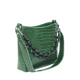 Hvisk Amble Croco Small Pine Green zijkant