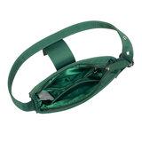Daniel Silfen Handbag Yasmin Nylon Dark Green binnenkant