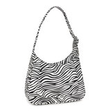 Daniel Silfen Shoulder Bag Siri Zebra zijkant