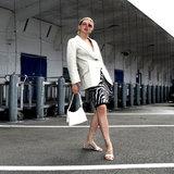 Daniel Silfen Handbag Ulla Glitter Snow model aan