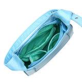 Daniel Silfen Shoulder Bag Siri Nylon Tropical Breeze binnenkant