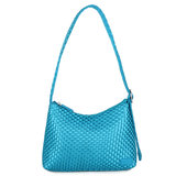 Daniel Silfen Shoulder Bag Ulrikke Braided Blueberry