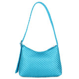 Daniel Silfen Shoulder Bag Ulrikke Braided Blueberry achterkant