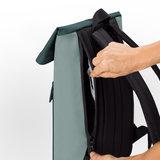 Ucon Acrobatics Lotus Jasper Backpack Mini Mint/Forest achterkant ritsvak