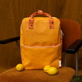 Sticky Lemon Large Backpack Freckles Sunny Yellow + Carrot Orange + Candy Pink_