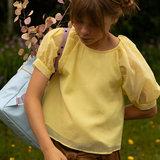 Sticky Lemon Large Backpack Freckles Sky Blue + Pirate Purple + Caramel Fudge model meisje