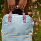 Sticky Lemon Large Backpack Freckles Sky Blue + Pirate Purple + Caramel Fudge details