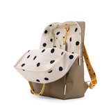 Sticky Lemon Large Backpack Freckles Seventies Green + Retro Yellow + Faded Orange binnenkant