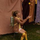 Sticky Lemon Large Backpack Freckles Seventies Green + Retro Yellow + Faded Orange model meisje