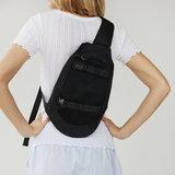 Mads Norgaard Bel One Crossy Bag Black model vrouw achterkant