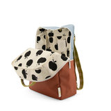 Sticky Lemon Large Backpack Colourblocking Blueberry + Willow Brown + Pear Green binnenkant