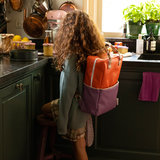 Sticky Lemon Large Backpack Colourblocking Orange Juice + Plum Purple + Schoolbus Brown model kind