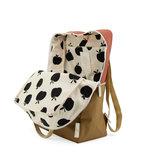 Sticky Lemon Large Backpack Colourblocking Fig Brown + Apple Tree + Vanilla Sorbet binnenkant