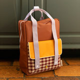 Sticky Lemon Large Backpack Gingham Chocolate Sundae + Daisy Yellow + Mauve Lilac sfeerbeeld