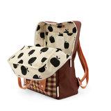 Sticky Lemon Large Backpack GinghamCherry Red + Sunny Blue + Berry Swirl binnenkant