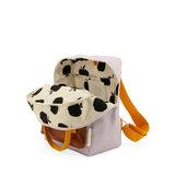 Sticky Lemon Small Backpack Gingham Chocolate Sundae + Daisy Yellow + Mauve Lilac binnenkant