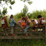 Sticky Lemon Small Backpack Gingham Chocolate Sundae + Daisy Yellow + Mauve Lilac modellen kinderen