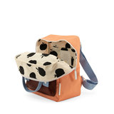 Sticky Lemon Small Backpack Gingham Cherry Red + Sunny Blue + Berry Swirl binnenkant