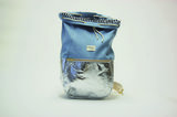 Kaliber Fashion Backpack Iceblue Voorkant Open