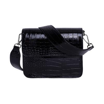 Hvisk Cayman Shiny Strap Bag black