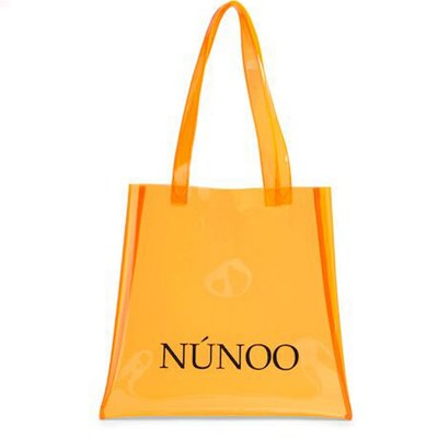 Nunoo large Transparent tote orange