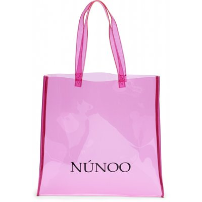 Núnoo large Transparent tote pink