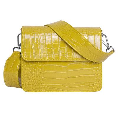 Hvisk Cayman Shiny Strap Bag chartreuse yellow