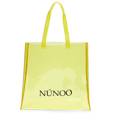 Nunoo large Transparent tote yellow