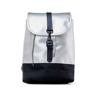 Rains Original Drawstring Backpack Silver
