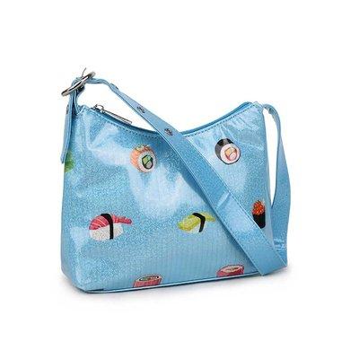 Daniel Silfen Handbag Ulla Blue Sushi