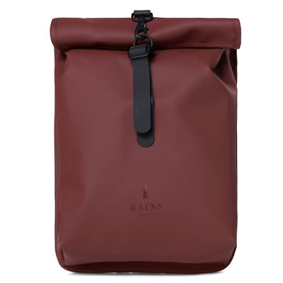 Rains Roll Top Mini Backpack Maroon