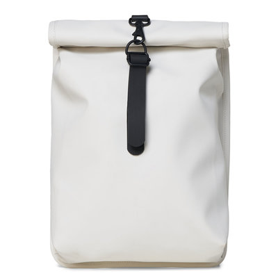 Rains Roll Top Mini Backpack Off White