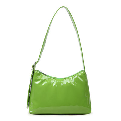 Daniel Silfen Shoulder Bag Ulrikke Patent Green
