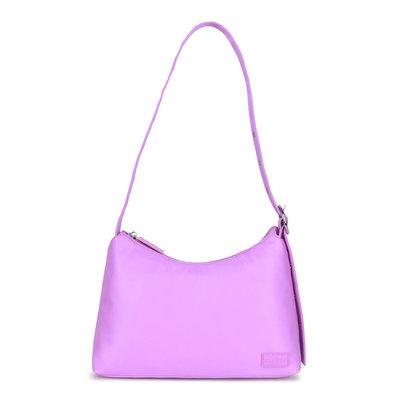 Daniel Silfen Shoulder Bag Ulrikke Nylon Light Purple