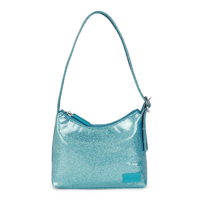 Daniel Silfen Handbag Ulla Glitter Aqua
