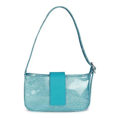 Daniel Silfen Handbag Yasmin Glitter Aqua