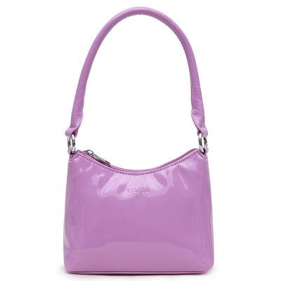 Daniel Silfen Handbag Ulle Patent Light Purple