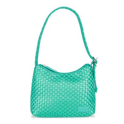 Daniel Silfen Handbag Ulla Braided Tile Blue